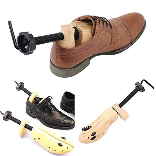 1 STÜCK Nisex Frauen Männer Holzschuh Stretcher 2-wege Einstellbare Schuhspanner Expander Einstellbare Holzschuh Klammer (einzigen Schuh) (Size : M)