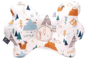 Bammax Baby Kissen Baby Kopfkissen gegen Plattkopf und Kopfverformung Memory Schaum Orthop/ädisches babykissen f/ür S/äulinge innerhalb 1 Jahr Alt